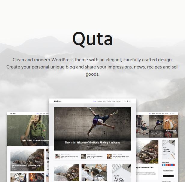 Quta - A WordPress Blog & Shop Theme - 1
