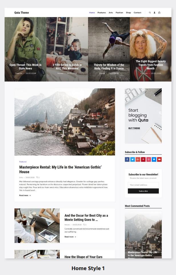 Quta - A WordPress Blog & Shop Theme - 2