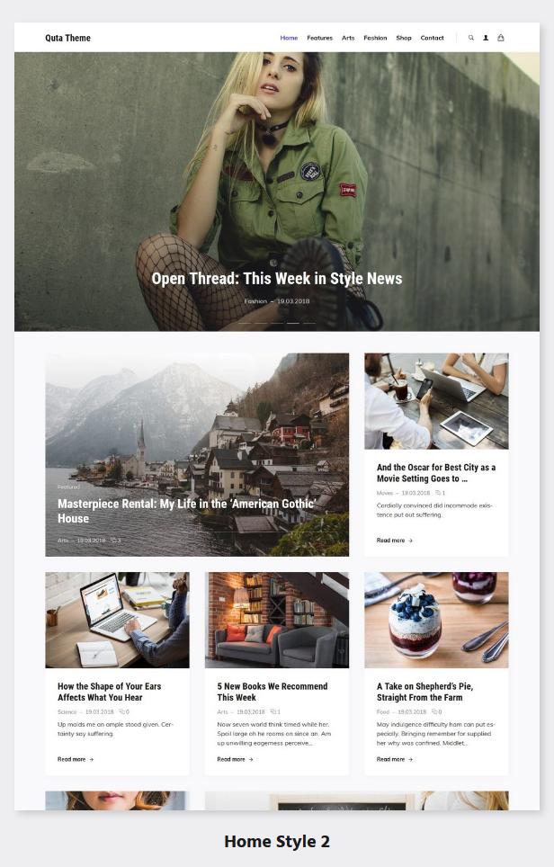 Quta - A WordPress Blog & Shop Theme - 3
