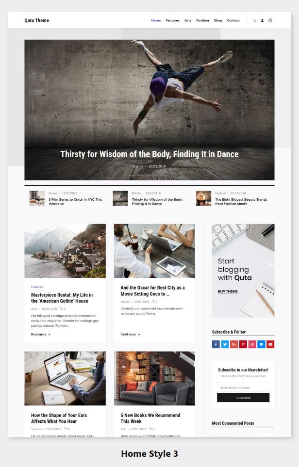 Quta - A WordPress Blog & Shop Theme - 4