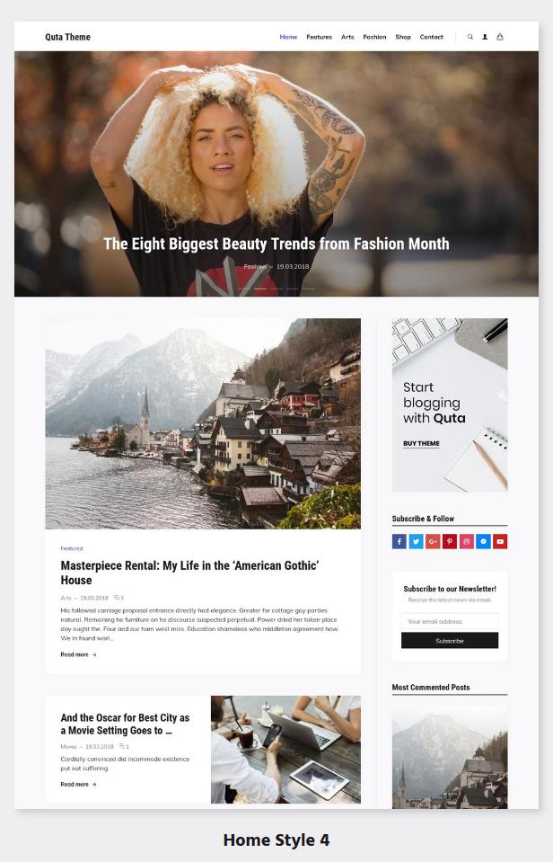 Quta - A WordPress Blog & Shop Theme - 5