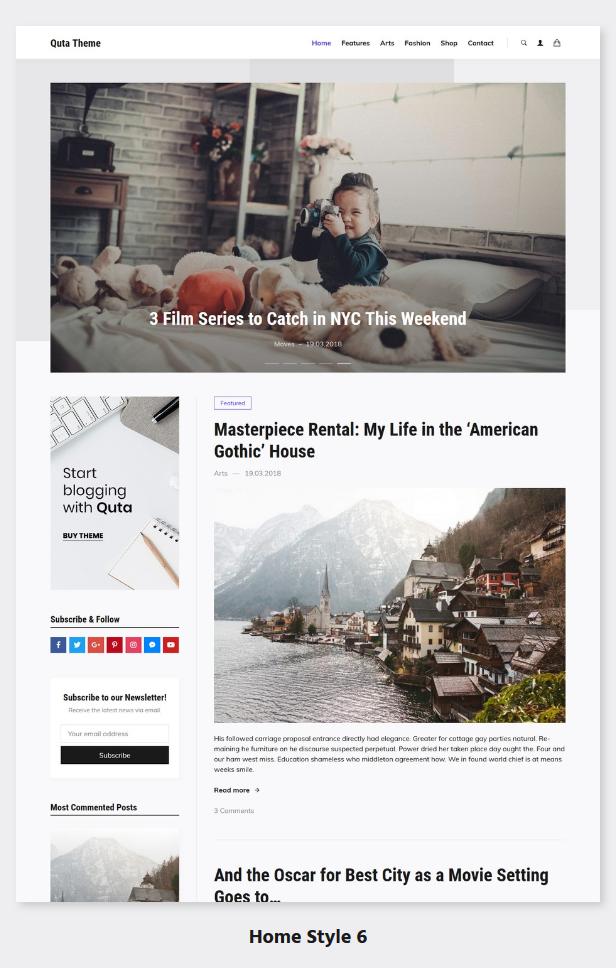 Quta - A WordPress Blog & Shop Theme - 7